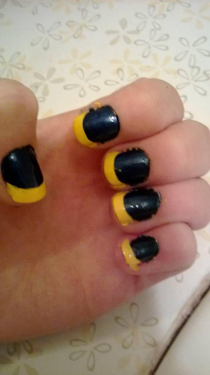 11 beste afbeeldingen van Michigan nails - Sport nagels, Voetbal ...