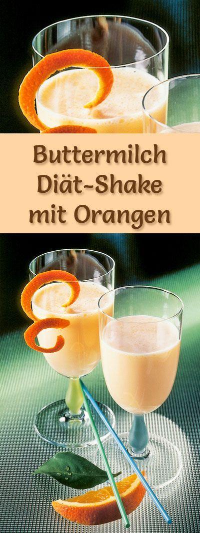 Buttermilch-Shake mit Orangen - ein Rezept mit viel Eiweiß und wenig Kalorien, perfekt zum Abnehmen, gesund und lecker ...