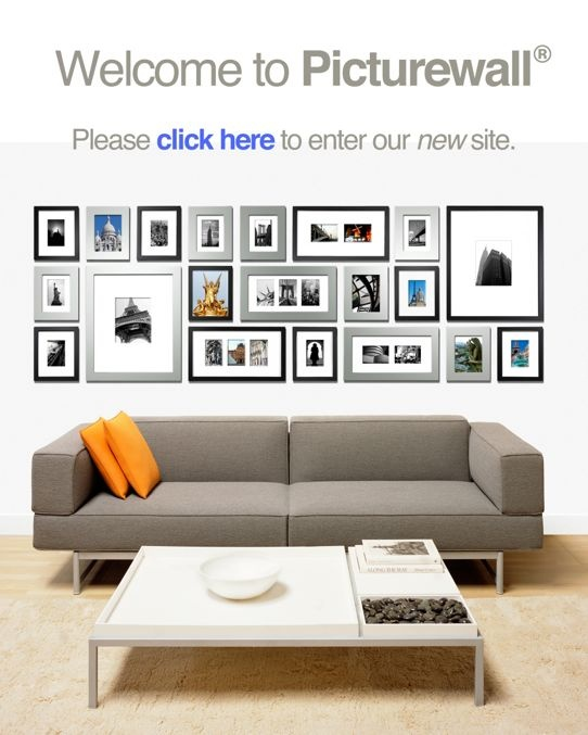Create the perfect picturewall in minutes! Includes Picture Frames! No measuring! No mistakes!