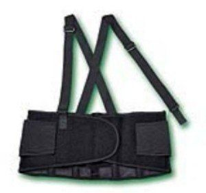 """Standard Back Support with Suspenders by Medline. $25.42. Innovative - will enhance your well being.. SUPPORT, BACK, W / SUSP, BLK, 30-34IN, MD, EAHelps protect workers from back injury during lifting and straining activities.Heavyweight overlocking woven elastic side panels provide maximum compression to abdomen and lower back.1 1/2"""" wide woven suspenders distribute weight evenly over a greater area for better protectionagainst injury.Suspenders break away from back s..."""