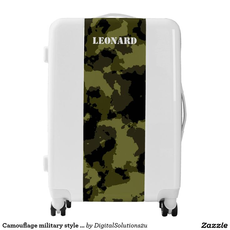 Camouflage military style pattern luggage