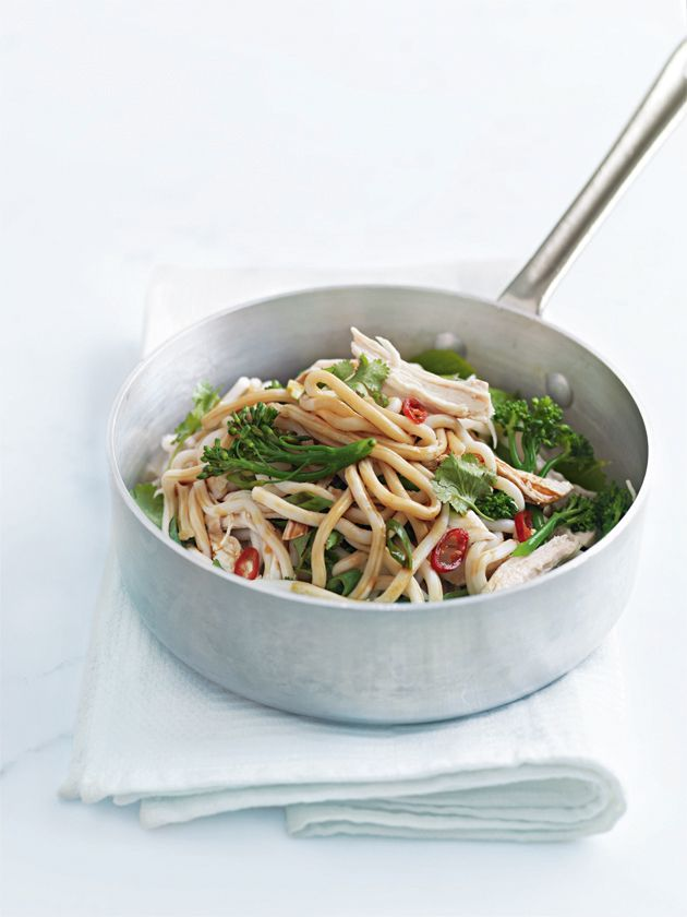 ginger-poached chicken noodles
