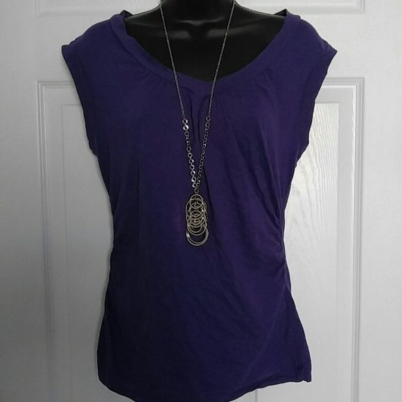 Casual Purple Shirt Casual Purple Shirt. No torn and stains. In great condition Susie Rose Tops Tees - Short Sleeve