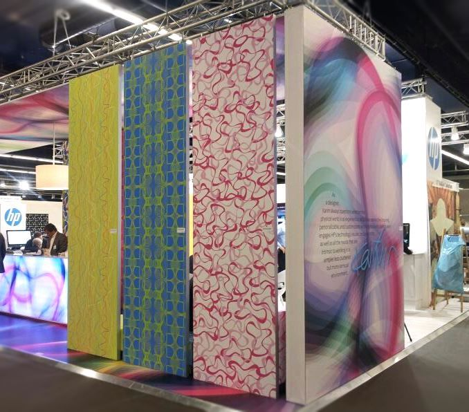 Wallpaper: HP collaborated with KARIM RASHID for Heimtextil 2013
