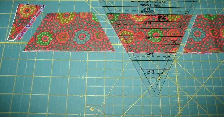 Uses The Tri Rec Tool For Scrappy Half Hexagon Quilt