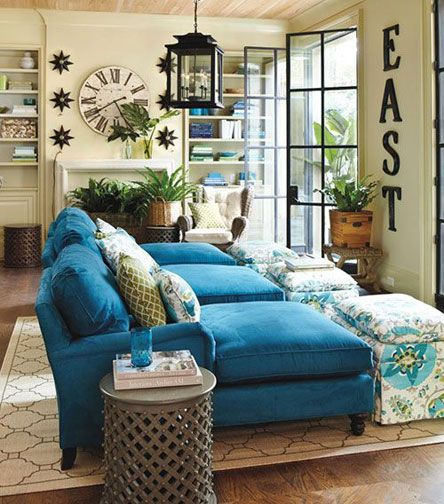 Te da miedo arriesgarte con los colores nos gustan estos - Sofa azul turquesa ...