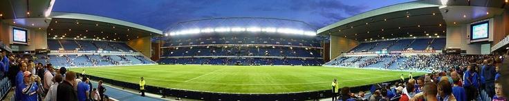 Ibrox Stadium, Glasgow. Rangers FC. Capacity 51 082.