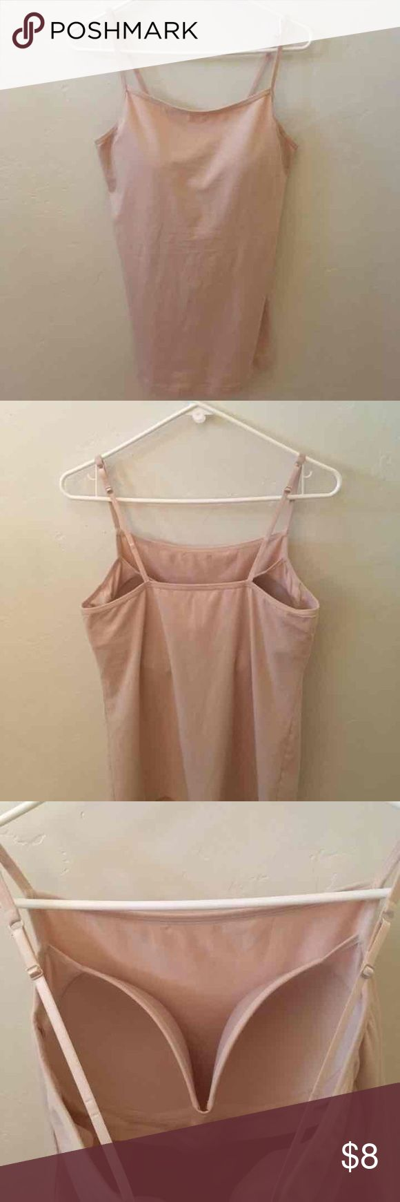 Modern Movement Cami Bra Top (XXL) NWOT Modern Movement Beige Cami with Built-In Shaping Bra Cups (Size XXL). Built-In Bra Hoes All The Way Around with Foam Lined Bra Cups. Provides Shaping, Support, and Coverage. Adjustable Straps. *Brand New w/o Tags!! Modern Movement Tops Camisoles