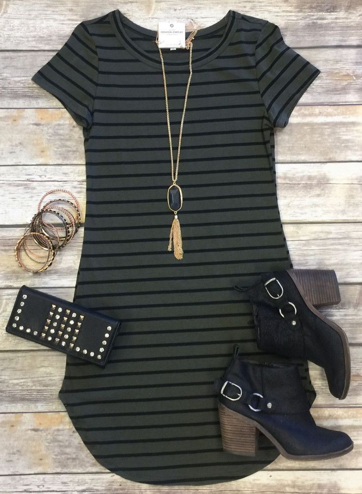 On the Horizon Tunic Dress: Olive from privityboutique