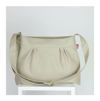"""""""Small and Sweety Purse Beige Color Pleated Canvas Shoulder bag Crossbody bag Women Accessories High quality gift for her zipper closed bag"""" by hippirhino on Polyvore featuring moda ve Lanvin"""