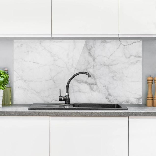Spritzschutz Glas Bianco Carrara Weisser Marmor Kuchenruckwand Marmoroptik Querformat 2 1 Kuche Ruckwand Glas Spritzschutz Kuchenruckwand