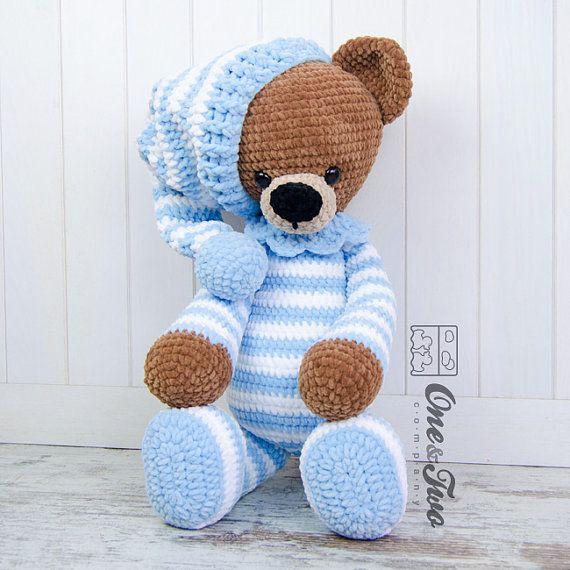 Sydney el gran oso de peluche serie grandes por oneandtwocompany
