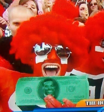 I definitely made it onto CBS while waving around fake Cam Newton money.
