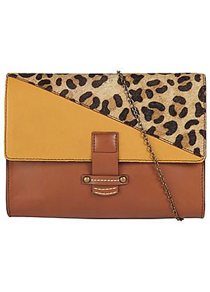 Leather Animal Mix Clutch #Kaleidoscope #Workwear