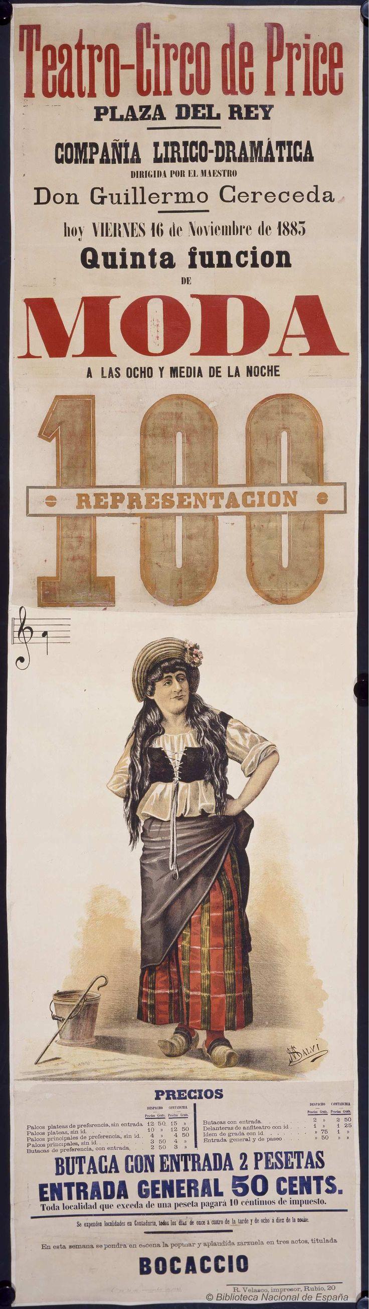 Quinta funcion de moda. Circo Price — Dibujos, grabados y fotografías — 1883 http://bdh-rd.bne.es/viewer.vm?id=0000018649