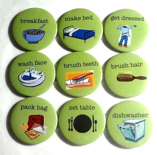 Magnet   Chore magnets   set of 10 fridge magnets by BadgeBliss, $22.00
