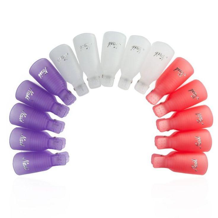10 Pcs/Lot Remover Gel Polish Nail Art Soakers Remover Soak Off Cap Clip Tools UV Nail Degreaser Polish Wrap Tool Nails