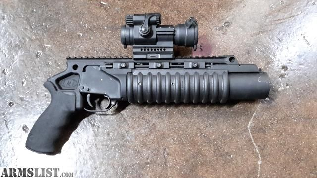 LMT 40mm grenade launcher because hmmmm, doesn't everyone need their own grenade launcher at home?