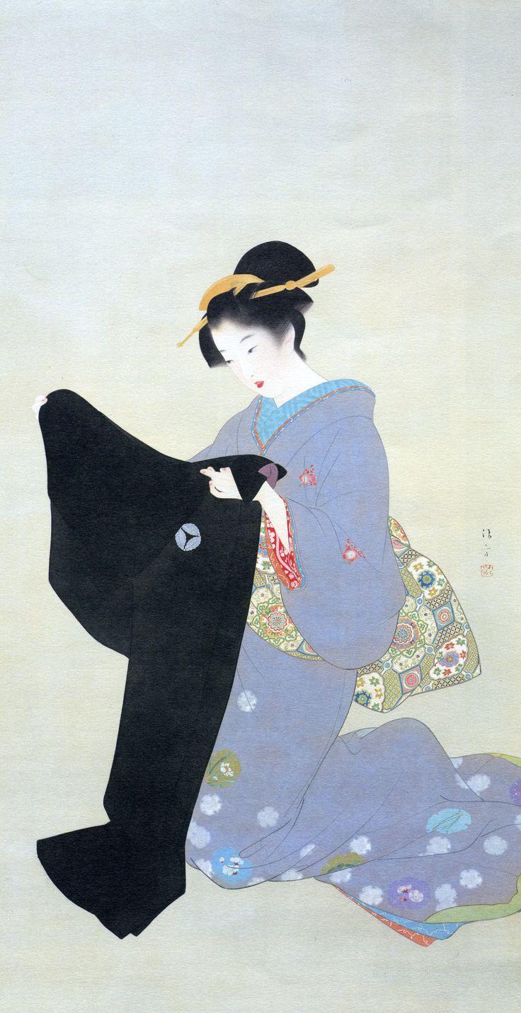 KABURAKI Kiyokata 鏑木清方(1878-1972) 「春雪」