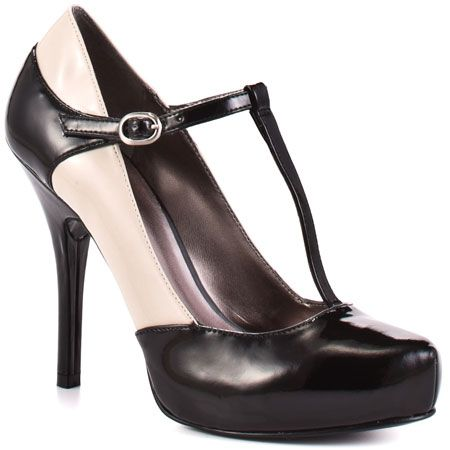 vintage french  t-strap heels prints | Galone 2 - Black Patent Heels.com offer free 2nd day shipping in the ...