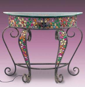 mesa-recibidor-de-hierro-con-piedras-incrustadas
