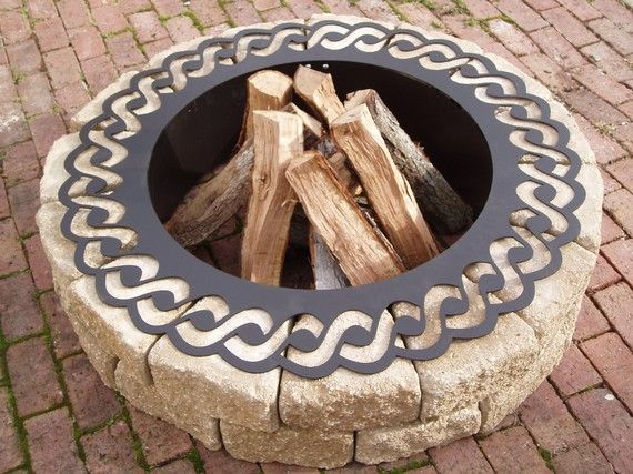 Fire Pit / Rope Fire Ring by SunsetMetalworks on Etsy, $300.00