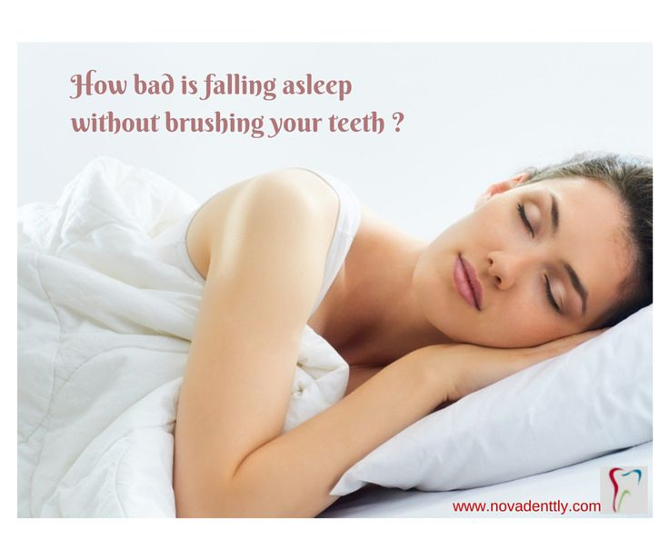How bad is falling asleep without brushing your #teeth ?  Every time you have a meal, the bacteria that naturally reside in your mouth feast on the food you eat. Just like every other living organism, these bacteria excrete waste after a meal. This waste is highly acidic and breaks down tooth enamel, causing root decay and cavities. So clean your teeth using brush before sleep ➤ http://www.novadenttly.com/