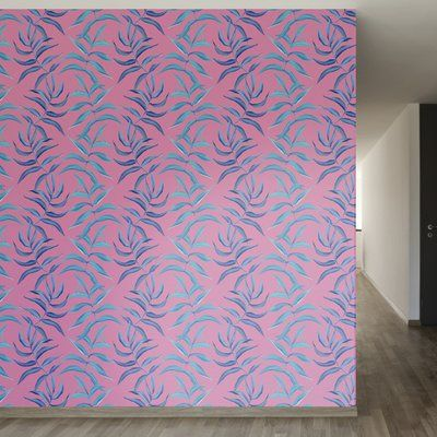 """You'll love the Neon Palms Removable 5' x 20"""" Floral Wallpaper at Wayfair - Great Deals on all Décor & Pillows products with Free Shipping on most stuff, even the big stuff."""