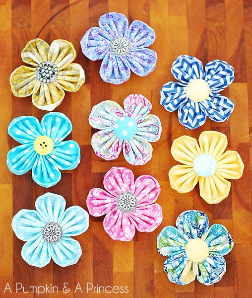 Round Petal Kanzashi Flower Tutorial (need a special tool supposedly avail at craft stores and on Amazon)
