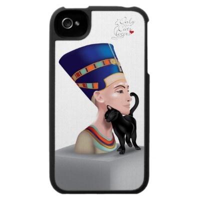 Nefertiti's cat! ^_^ iphone case http://www.zazzle.com/nefertitis_cat_iphone4_case_speckcase-176393111329218147