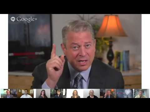 Google+ Conversation with Al Gore about Combating Climate Change - Hango...