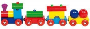 Drewniany pociąg Peru #lokomotywa. Najlepsze zabawki drewniane na www.kidsabc.pl