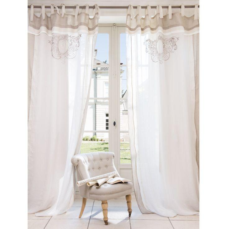 Les 25 meilleures id es concernant rideaux maison du monde sur pinterest maison du - Rideau campagnard ...