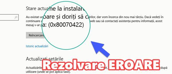 Eroarea 0x80070422 care apare la Windows Update si la alte servicii din Windows - Eroare 0x80070422 la Windows Update sau alte servicii - TUTORIAL VIDEO #videotutorial #Windows