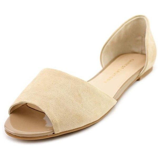 Chinese Laundry Countdown Women Flats ($25) ❤ liked on Polyvore featuring shoes, flats, brown, chinese laundry, flat pumps, brown flats, faux suede shoes and flexible shoes