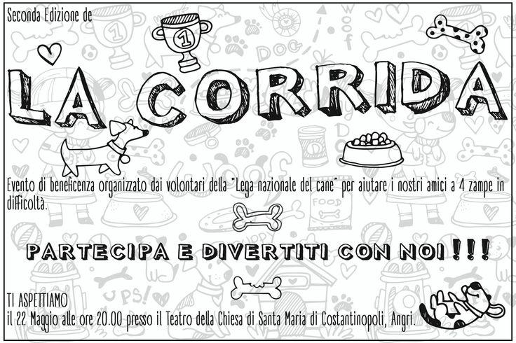 22/5 la #LegadelCane di #Salerno organizza #LaCorrida evento di beneficenza