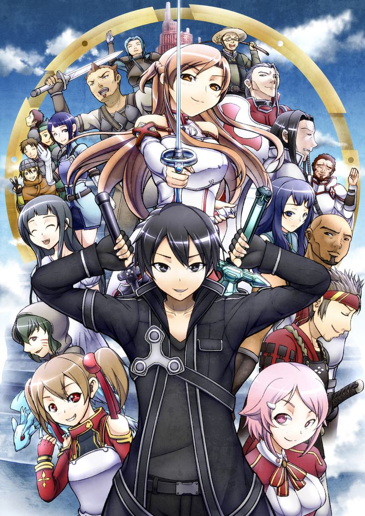 SWORD ART ONLINE-- loved the first season, the second wasn't as great.