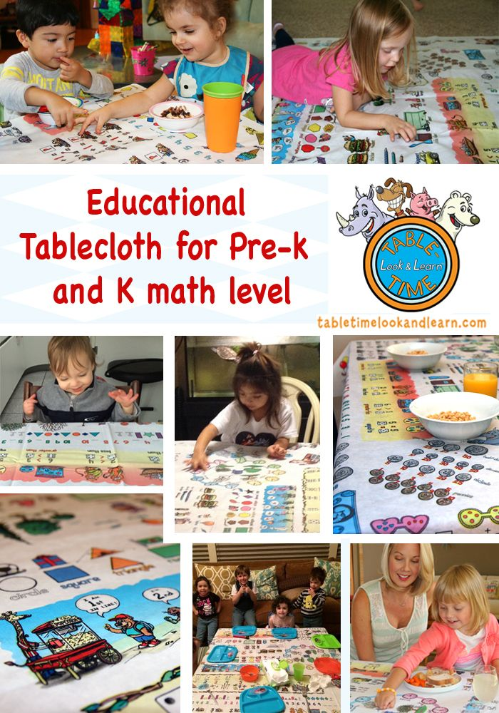 I LOVE THIS PRODUCT! Check out this Mostly Math Tablecloth! It is a must have for pre-school and Kindergarteners! Great way to bring math into everyday conversations -  keep them entertained, and educate them, all at the same time!
