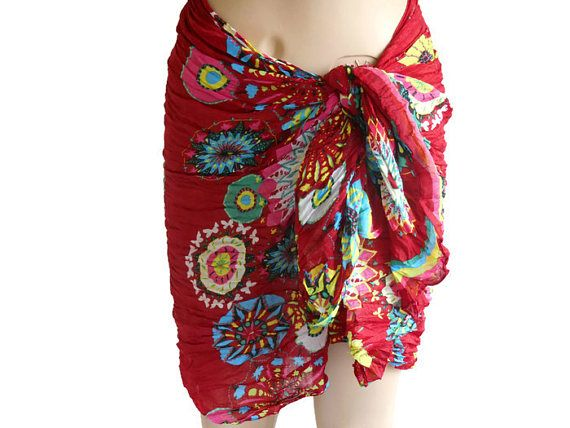 Sarong, Pareo, Beach Sarong, Women Sarong, Mayo Skirt, Colorful Sarong, Bikini Skirt, Cotton Sarong, Bordeaux Pareo, Wide Shawl   Sarong pareo. Its quite spacious. The color is perfect. Color Pareo. Cotton. Organic fabric. You can use it and give it many shapes. Useful cover. It was done carefully.  Wrap it on the bikini. dress. You can skirt. You can make a bustier. Close the rear. You can also use around the globe. Many options :)  When you walk near the sea beach, feel the impressive…