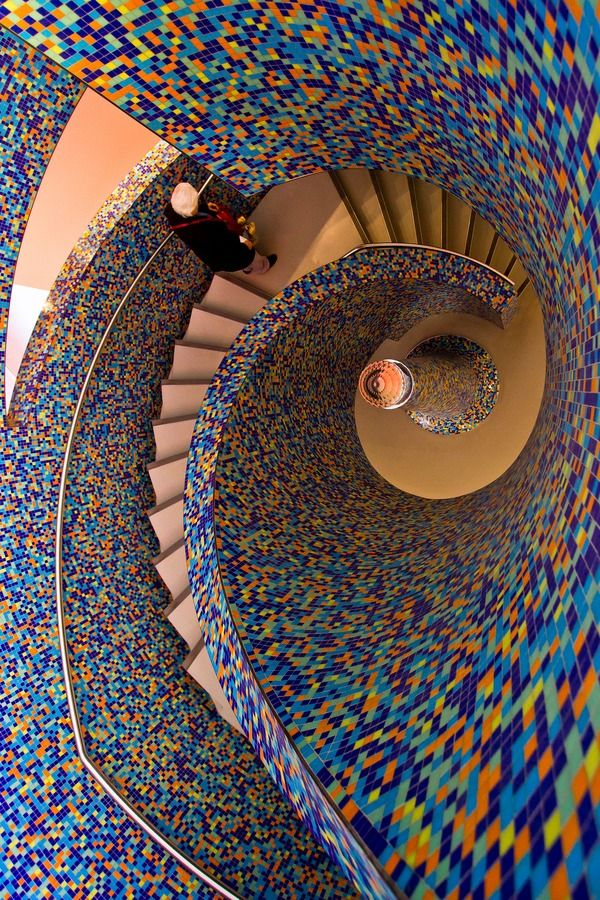 Groninger Museum, staircase,  The Netherlands