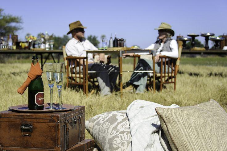 Sundowners at #Mombo - the ultimate in #safari #luxry #Africa #Botswana #OkavangoDelta #authenticktravel
