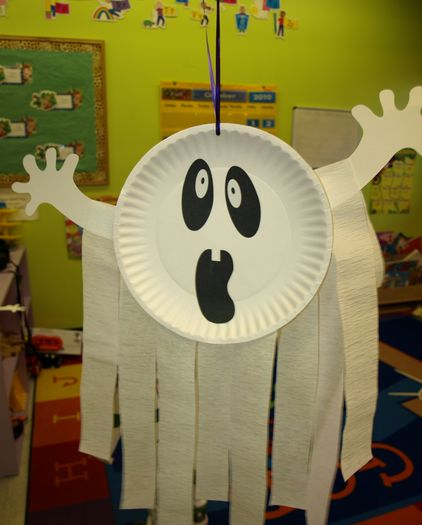 Image detail for -Paper Plate Ghost from Pink Peppermint Blogger: