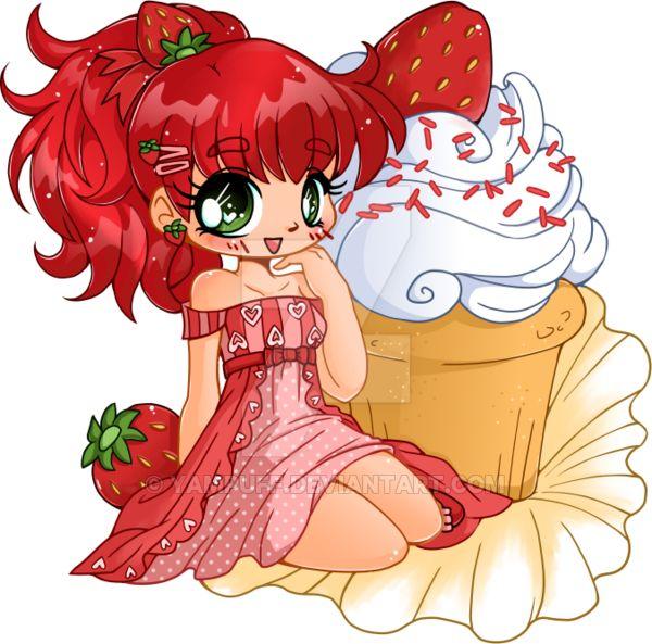 Strawberry Shortcake Cupcake Chibi Commission by YamPuff on DeviantArt