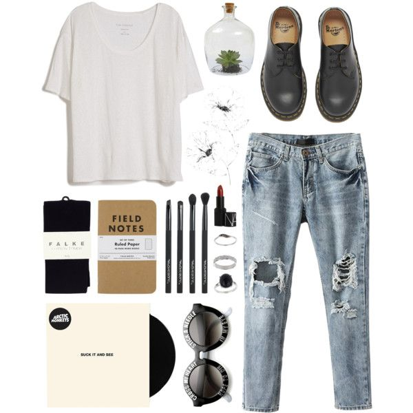 smells like the only nirvana song you know by kjllic on Polyvore featuring polyvore fashion style Fine Collection Falke Dr. Martens Miss Selfridge NARS Cosmetics Japonesque Dot & Bo WallPops