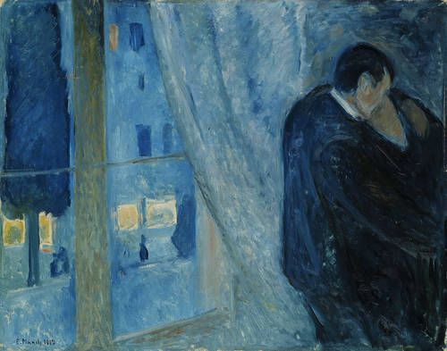 Kiss by the window, Edvard Munch, 1892