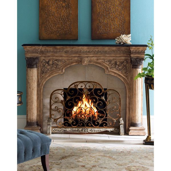 Ambella Arched Fireplace Screen ($995) ❤ liked on Polyvore featuring home,  home decor · Wrought Iron Fireplace ... - 25+ Best Ideas About Wrought Iron Fireplace Screen On Pinterest