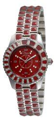 Christian Dior Women's CD11211DM001 Christal Diamond Red Dial Watch