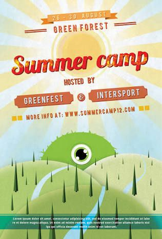 Best Summer Camp Ideas Images On   Graphics Posters
