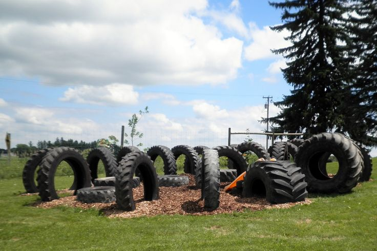 1000 images about playground recycling materials on for Tractor tire recycling