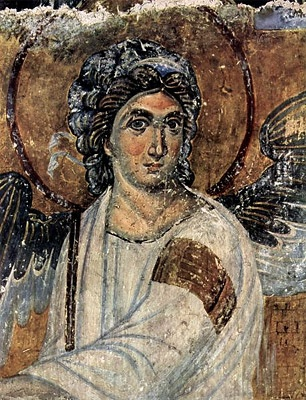 Beli Anđeo- is a detail of one of the most well-known frescoes in Serbian culture in the Mileševa monastery, Mironosnice na Hristovom grobu (Myrrhbearers on Christ's Grave), dated c. 1235 in Serbia during the reign of King Stephen Vladislav I of Serbia. Considered one of the most beautiful works of Serbian and European art from the High Middle Ages, this fresco is considered to be one of the great achievements in European painting.